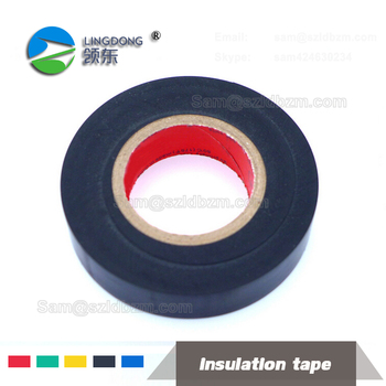 High Voltage Black color Rubber electrical PVC insulation tape log roll