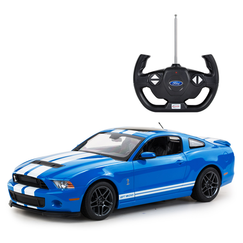 FORD car body decorations RASTAR 1:14 electric LED lights toy fast rc car for kids