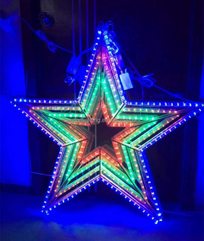 Lighted Christmas Hanging Stars