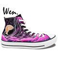 Wen Original shoes Hand Painted Design Custom Sneakers Pink Galaxy Nebula Tardis Doctor Who High Top