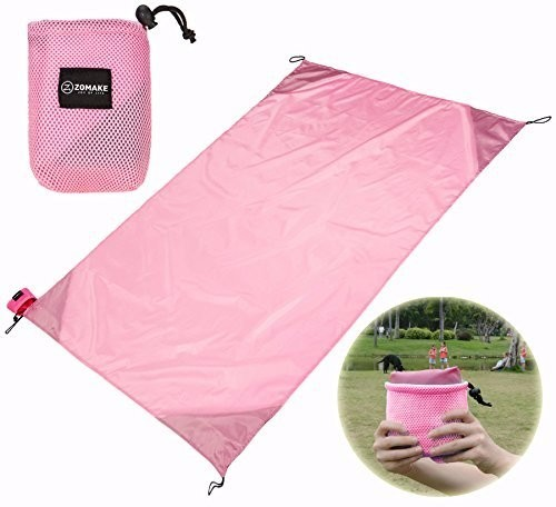 wholesale 100 nylon sand proof beach blanket pouch pocket picnic blanket beach mat foldable