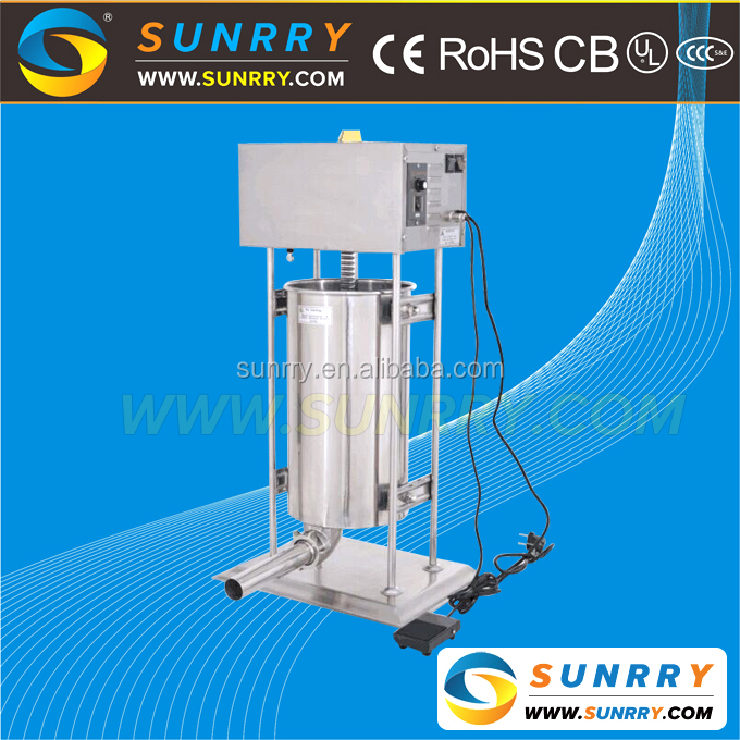 Commercial electric two-speed automatic sausage stuffer machine and filler machine to making sausage