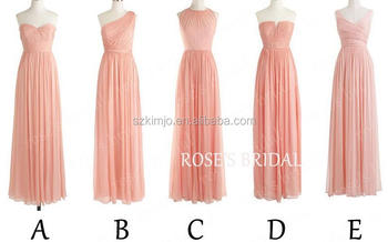 Mismatched Blush Pink Long Bridesmaid Dresses Wholesale Chiffon China  Alibaba Wedding Party Dresses 5433d9e77