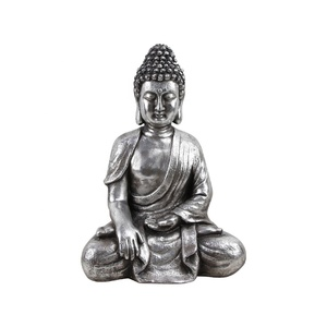Perfect gift sliver garden little buddha figure statues
