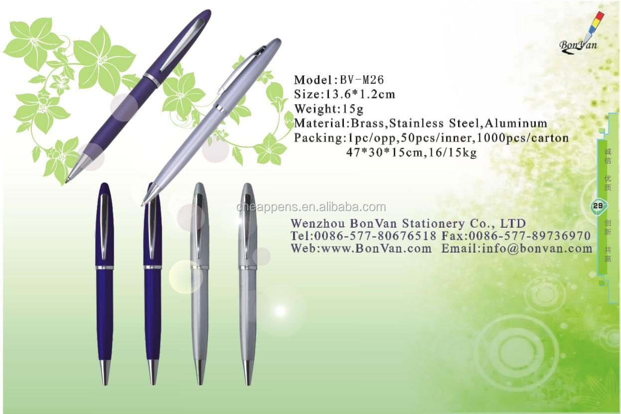 2019 aluminium product metal custom pens with logo printing for promotional and adverdting