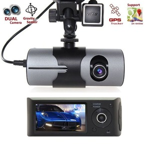 Auto starting R300/X300 car mount camera dual lens dash camera with GPS logger tracking