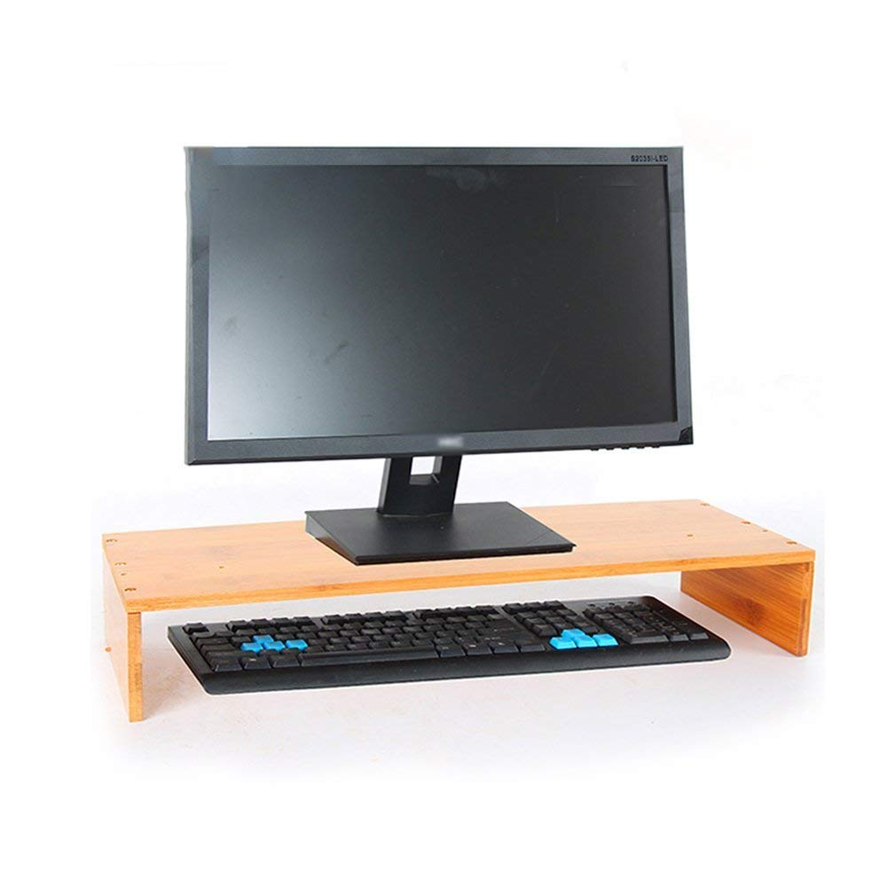 XUE01 Computer Monitor/LCD Screen Height Bracket Stand Desk Top Keyboard Storage Rack, Wood, Adjust The Viewing Angle (Color : 2#)