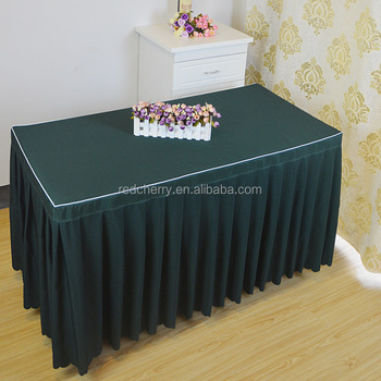 Table Cloth Made Of White Edge Pure Color Table Skirt Dress Cloth Art Square  Table