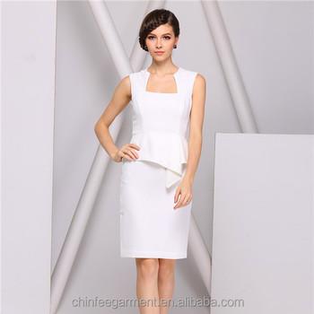 Fashion White Las Office Wear Dresses Dress