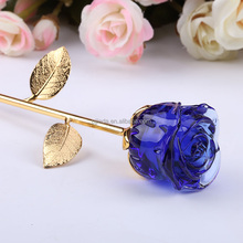 High Quality Decoration Romance Christmas Gift Crystal Rose Flower