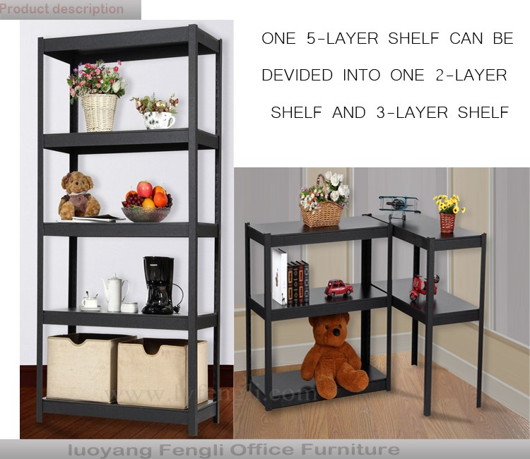 Boltless design 5-layer Light Duty Metal Storage Shelf or Rack