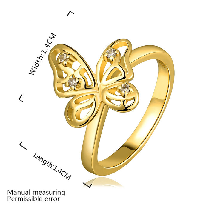Wholesale Alibaba New Design Finger Butterfly Gold Ring Designs For ...
