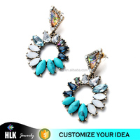 2015 New Arrival fasion women's Earrings OL Style Classic Romantic New York Mixed Charm Multicolor Earrings
