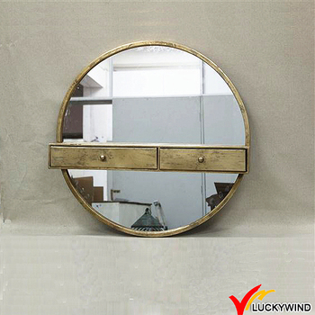 Ordinaire Gold Round Mirror Bedroom Wall Mounted Dressing Table Designs