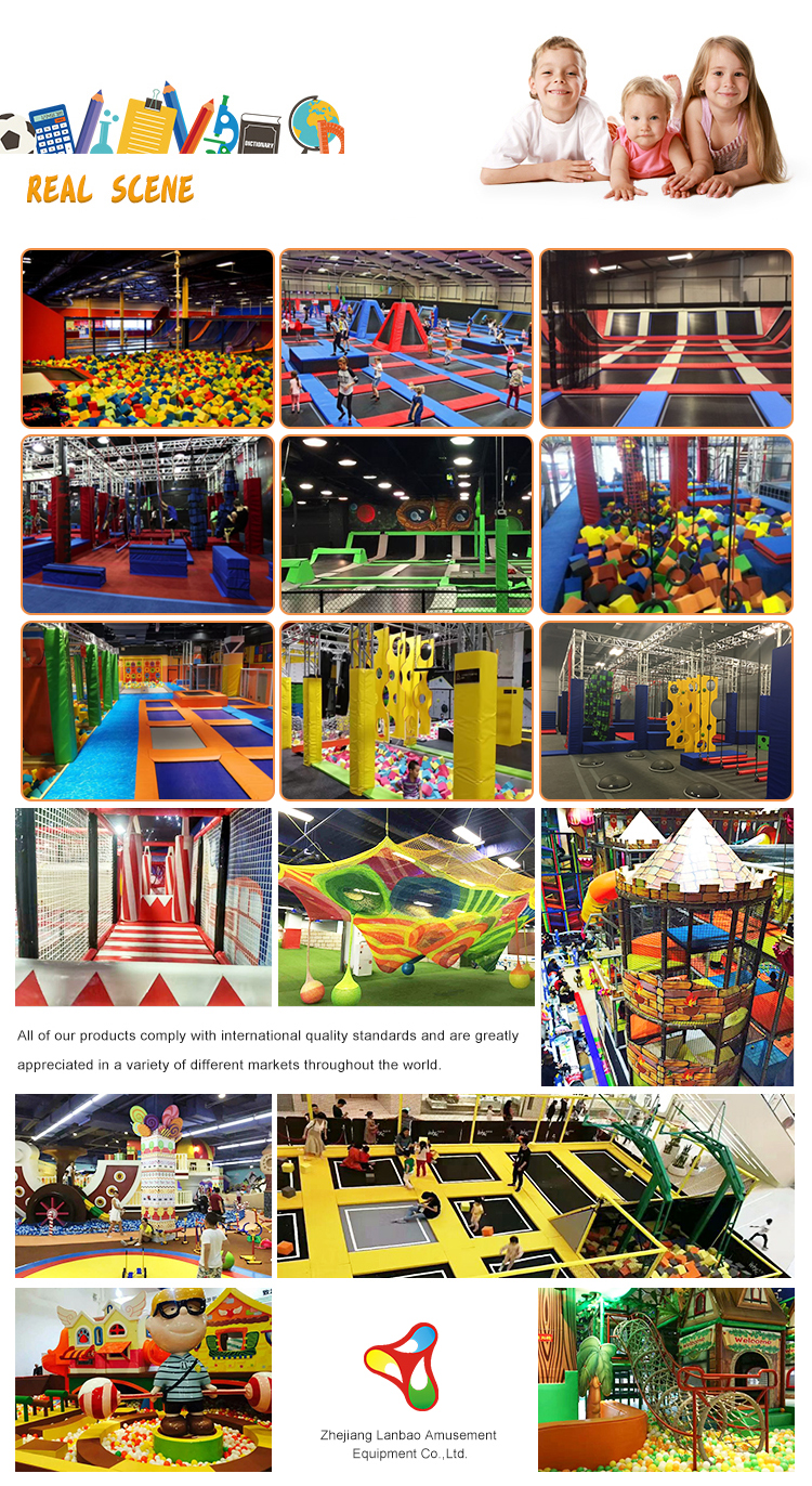Newest Factory Price Trampoline Indoor Gym Equipment Trampoline Park