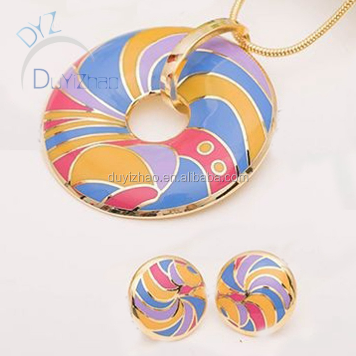 latest enamel product 2015 for jewelry set