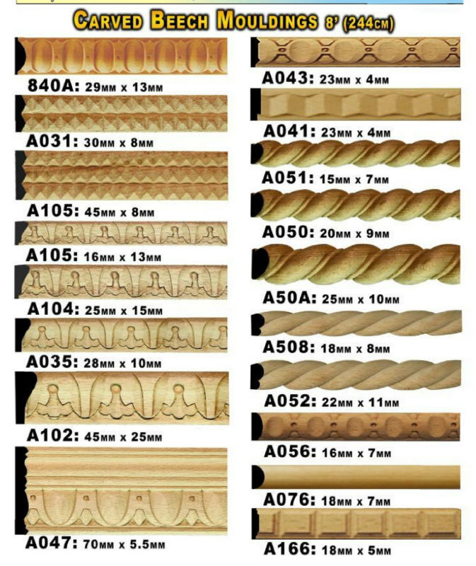 Wooden Carved Molding - Buy Wooden Carved Molding In Beech Wood Product on  Alibaba com