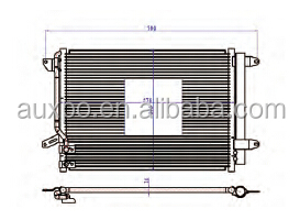 parallel flow condenser for VW BETTLE(11-)/NEW SAGITAR(OEM NO.: 5C0820411E/5C0820411/5C0820411F)