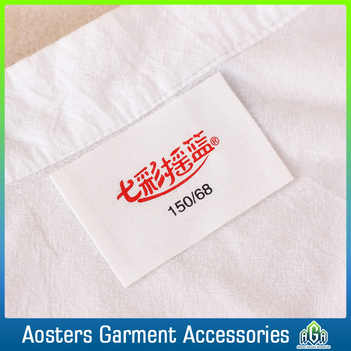 oem color printing fabric size printed labels for clothing