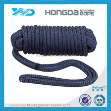Professional marine supplies double braided polyester rope