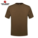 Outdoor Tactical Full Cotton T Shirt Brown Military Army Training Tshirt