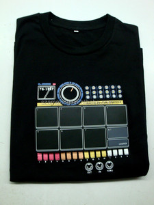 DJ Quality Drum Machine Thumps out Sweet Digital Rhythms Electronic Drum T Shirt with Loop Function