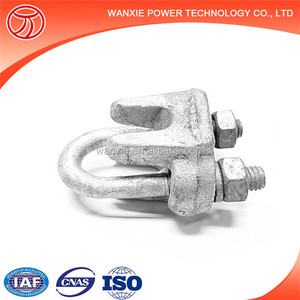 Wire Rope Fasteners Hot Dip Galvanized Stay Wire Clamps/ Guy Clips/ Wire Rope Clips