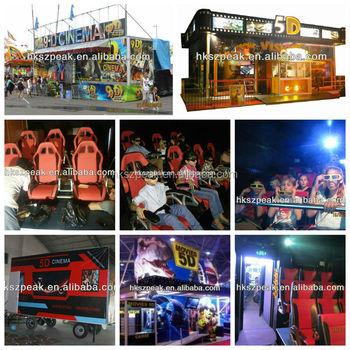 New Business Planmobile Home 3d 4d 5d 7damusement Rides Children Game Simulator