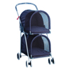 Blue Double Deck Pet Stroller