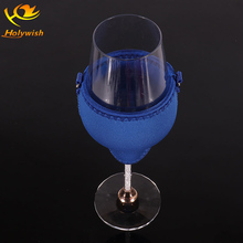 Promotional gift neoprene wine glass holder / beer slim can cooler
