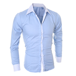 wholesale clothing garment mens white formal100%cotton casual men's shirt