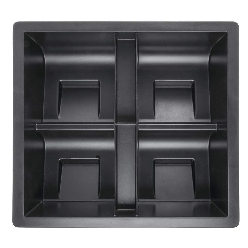 """San Jamar Black Plastic Mini Dome Condiment Organizer Insert - 18 5/8L x 16 4/5""""W x 6H"""