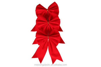 red velvet small butterfly bow for christmas tree - Red Christmas Bows