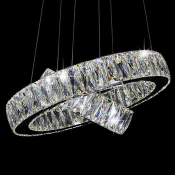 stainless steel lighting fixtures. Modern LED Crystal Ring Chandelier Lamp Stainless Steel Cristal Pendant Hanging Light Suspension Lighting Fixture LED007 Fixtures T