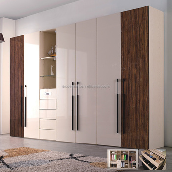 Matte Lacquer With Mirror Furniture Wardrobe Doors Glossy