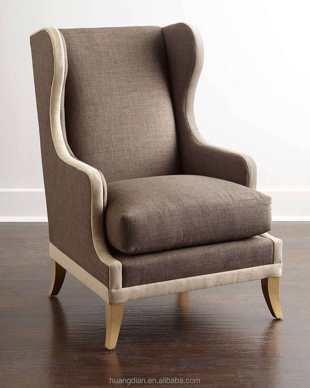 Famous High-back Braunn Wing Chair Sofa Seat Hotel Room Furniture Bed  JU32