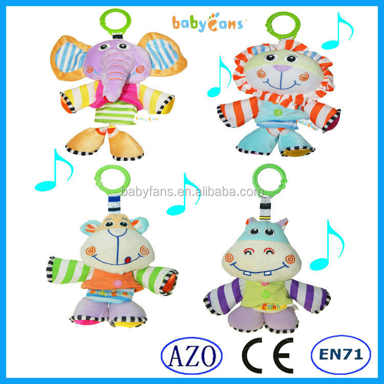 Babyfans toys 2018 for kid baby musical mobile toys minion plush animated toy