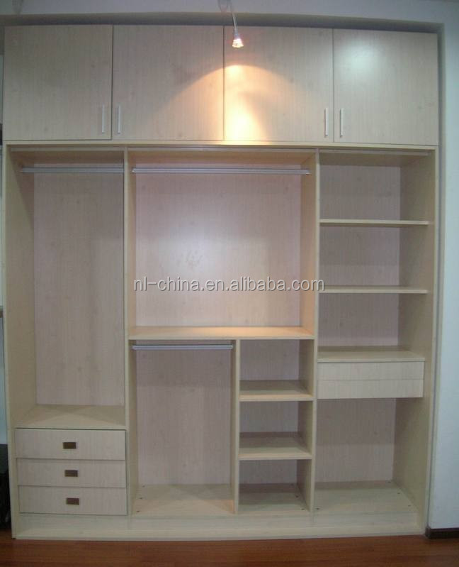 2015 fashinable color blanco dormitorio closet organizador for Modelos de closet para habitaciones en cemento