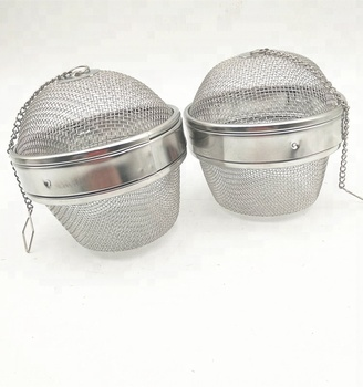 Put condiment or Making tea Silver Stainless steel Tea ball Tea infuser strainer