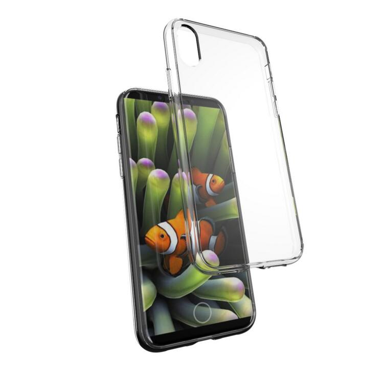 oem molding premium shock absorption soft bumper cushion scratch resistant clear hard back cover protective case for iphone x