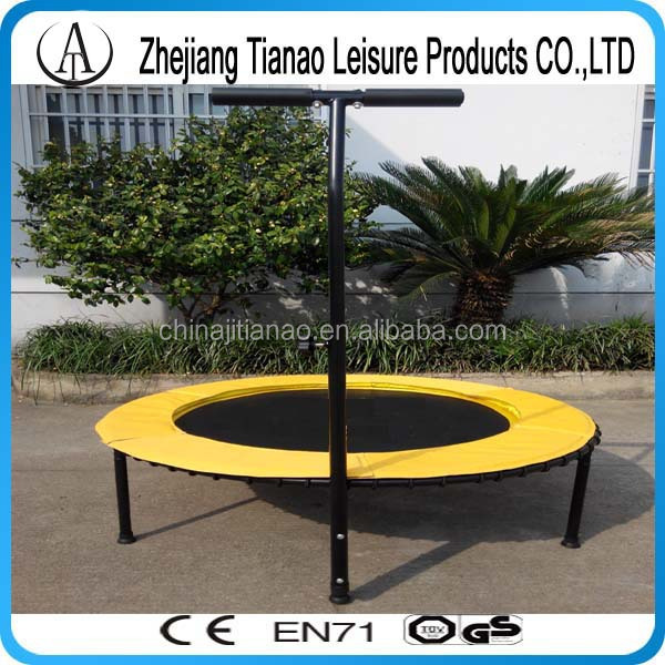 32inch fitness mini trampoline with handle, single bungee trampoline for sale TA32T-6