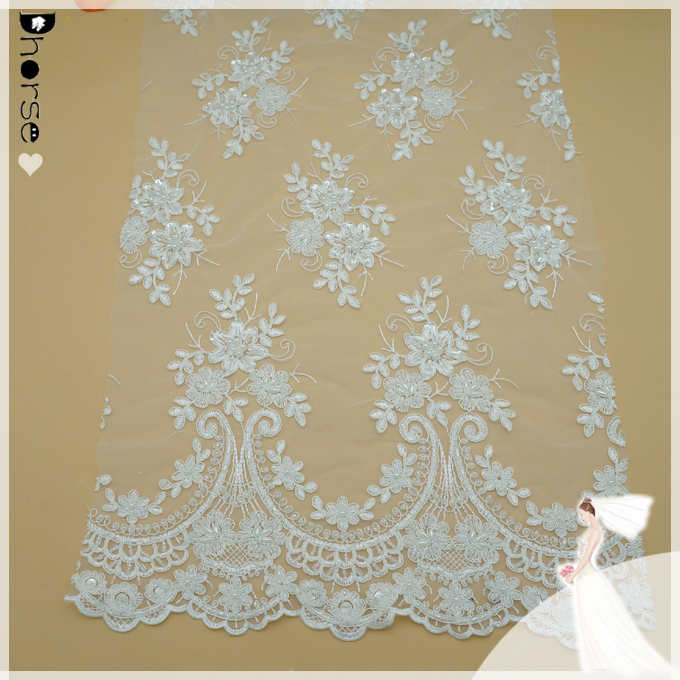 2015 Hot Sell nigerian wedding lace fabric wholesale-DH-BF721