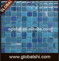 Top grade glass mosaic for swimming pool tile,crystal glass mosaic tile