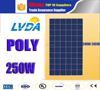 poly Solar Panel Price 250W With 10 Years Warranty 25 year lifetime poly Solar Home System for Brazil market hot selling
