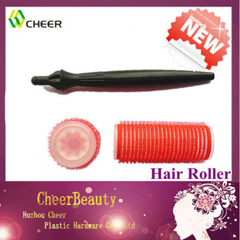 foam hair rollers with handle CR123/ different types of hair curlers/ foam rolls