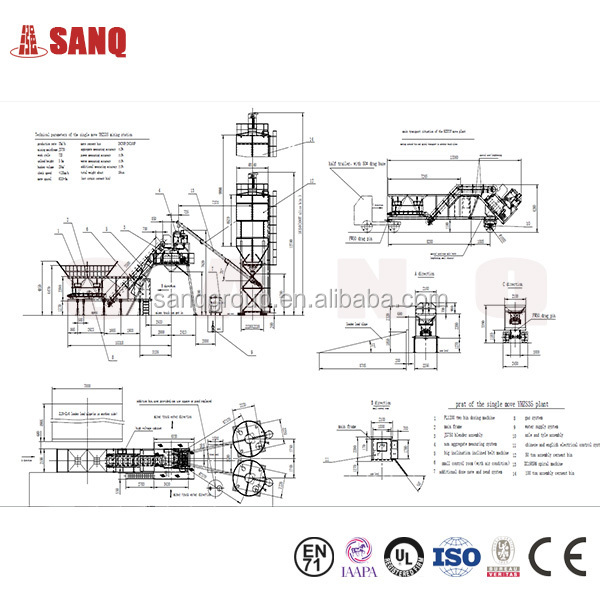 35m3 H Mobile Small Concrete Batching Plant For Sale
