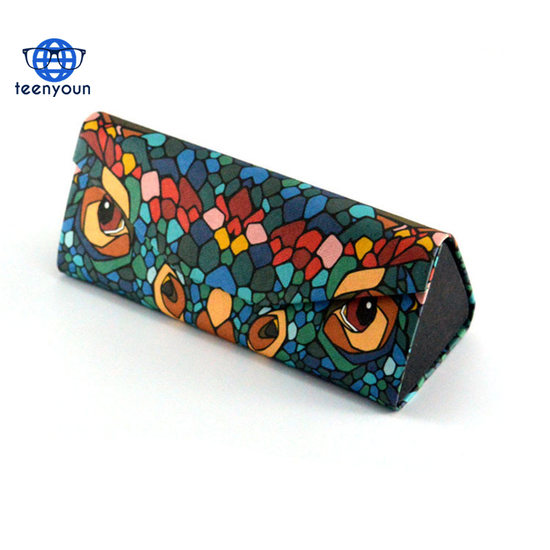 Fashion Fold Up Sunglasses Case packaging boxes Women Men Owl Animal Print Glasses Box Cartoon Design Eyeglasses Cases