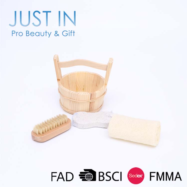 3PCS Cheap Bath SPA Gift Set For Sale Include Bath Sponge Body Brush Pumice Stone Foot File