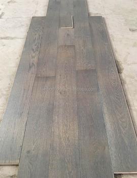 Grey Stain Wire Brushed European White Oak Engineered Timber Flooring