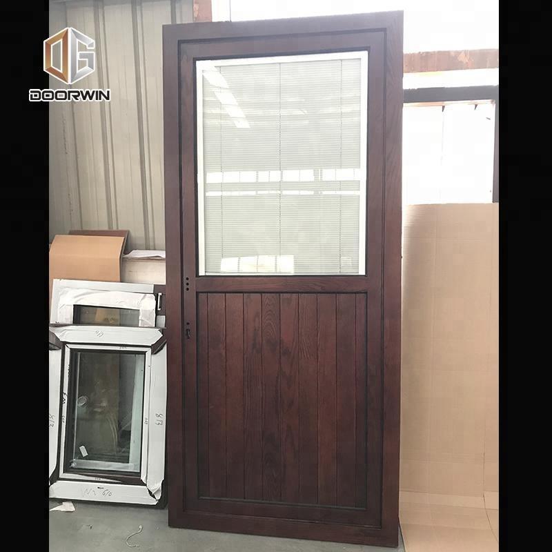 Half Gl Interior Wood Doors Screen Wooden Door